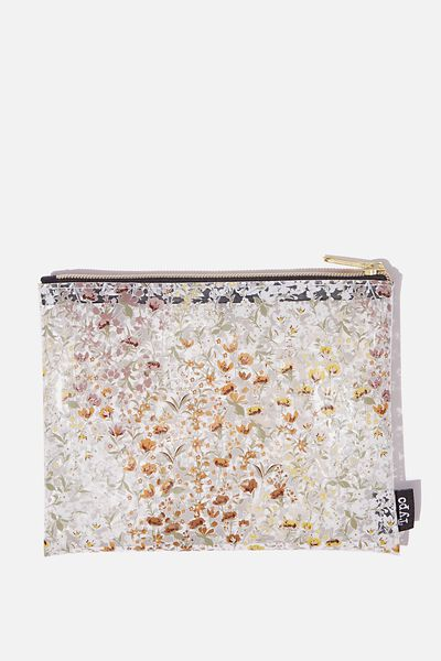 Clear It Pencil Case, WILD FLOWER FLORAL
