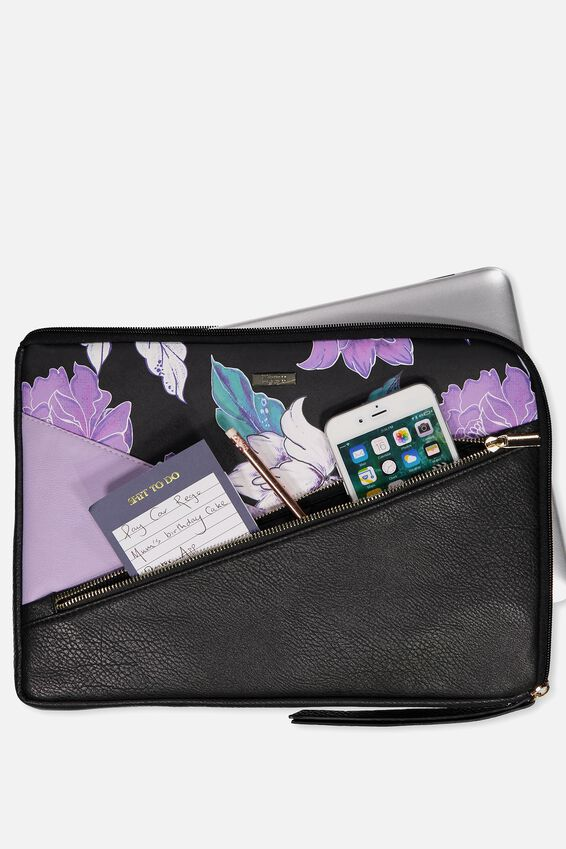 Premium Laptop Case 13 inch, LUSH FLORAL