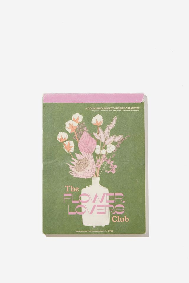 Artists Assistant Post Card, THE FLOWER LOVERS CLUB