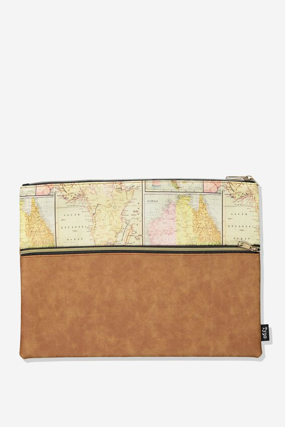 Big Bro Pencil Case, TAN MAP