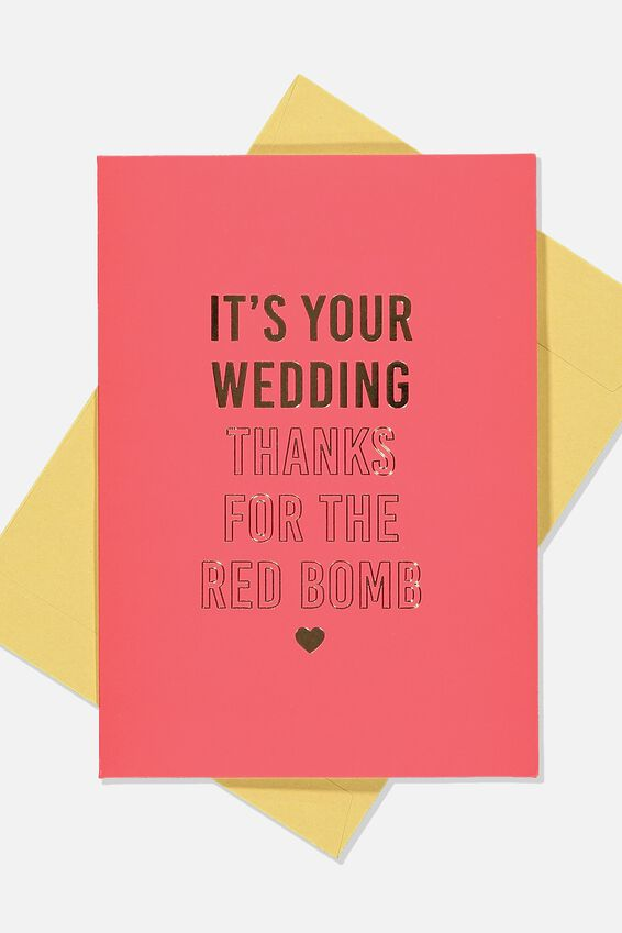 Wedding Card, RED WEDDING