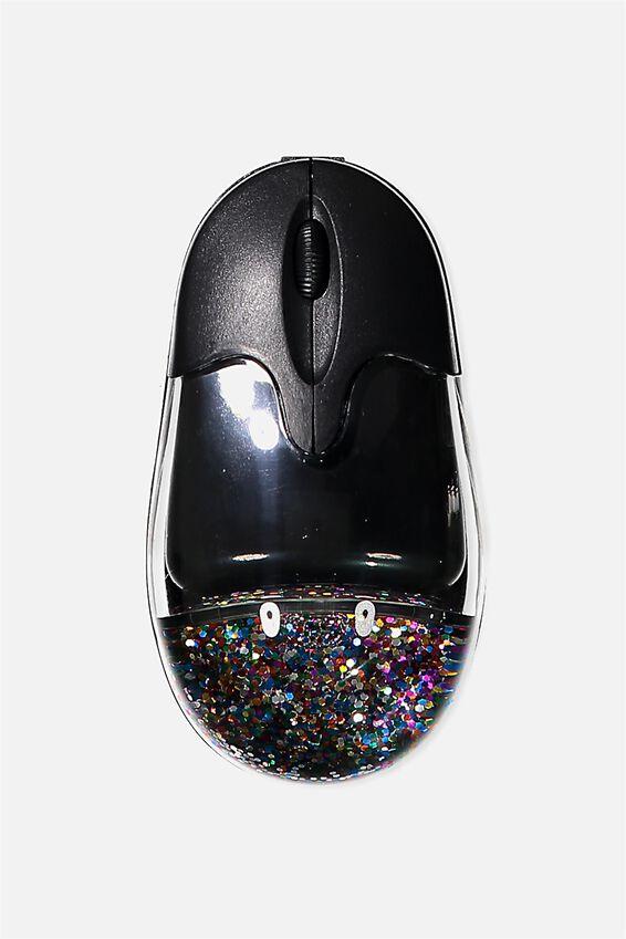 Shake It Wireless Mouse, BLACK/MULTI GLITTER