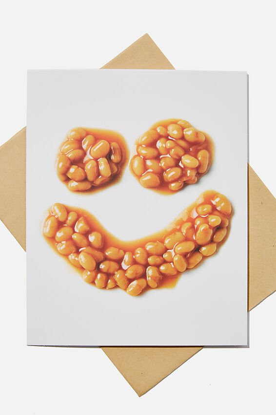 Premium Blank Card, SCENTED BAKED BEANS