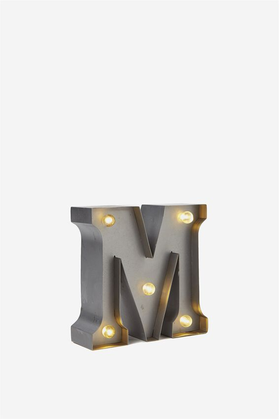 Mini Marquee Letter Lights 10cm, SILVER M