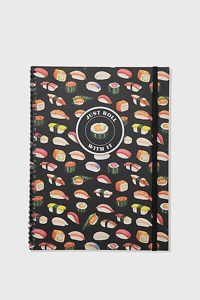 A4 Spinout Notebook Recycled, SUSHI