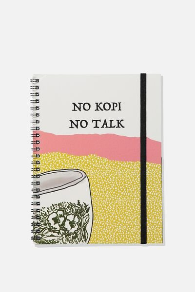 A5 Spinout Notebook - 120 Pages, NO KOPI NO TALK