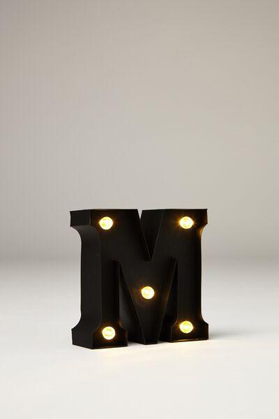 Mini Marquee Letter Lights 10cm, BLACK RUBBER M