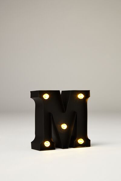 Lighting twinkle lights freestanding cotton on mini marquee letter lights 10cm black rubber m expocarfo Gallery