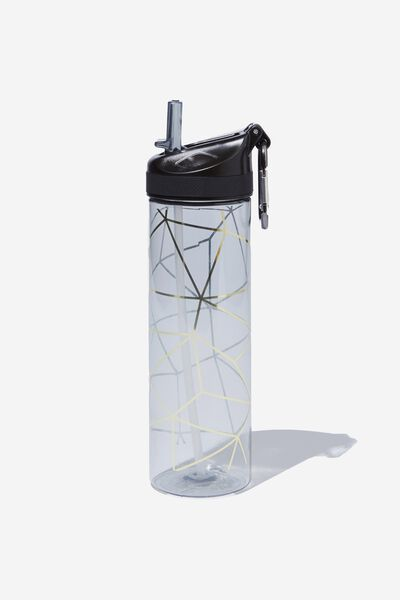 The Clipper Drink Bottle, GOLD GEO LINES