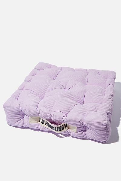Floor Cushion, WILD LILAC CORDUROY