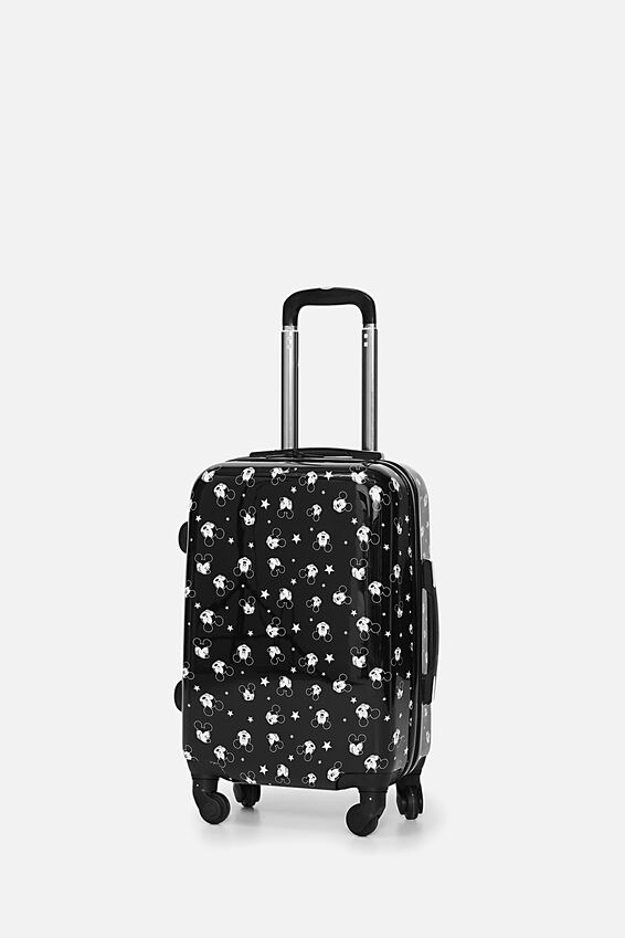 Mickey Suitcase, LCN BLACK MICKEY DITSY PRINT