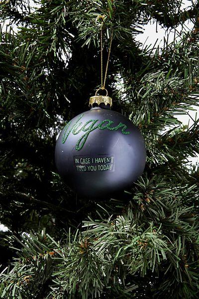 Small Glass Christmas Ornament, BAUBLE VEGAN