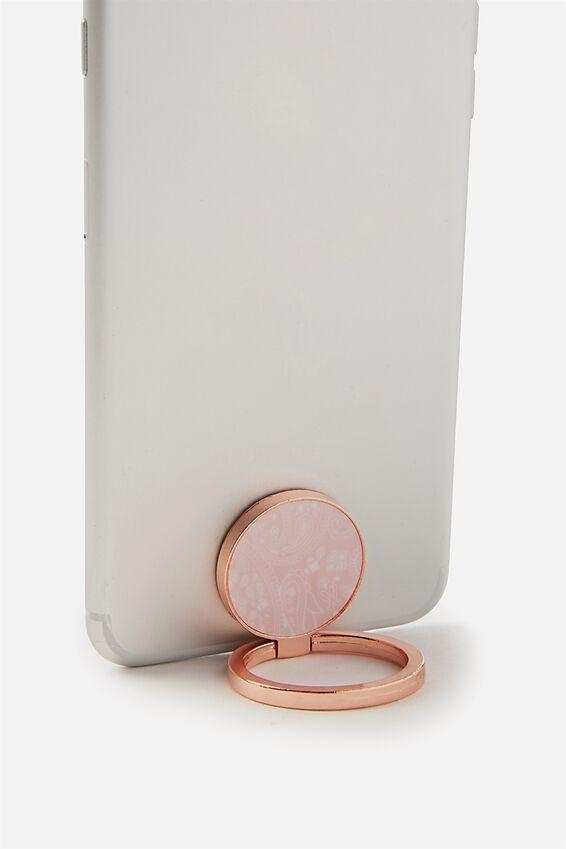 Metal Phone Ring, BLUSH LACE