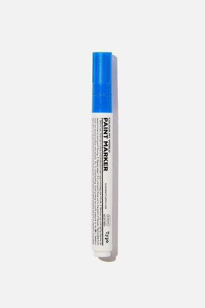 Thick Colour My World Paint Marker, BLUE