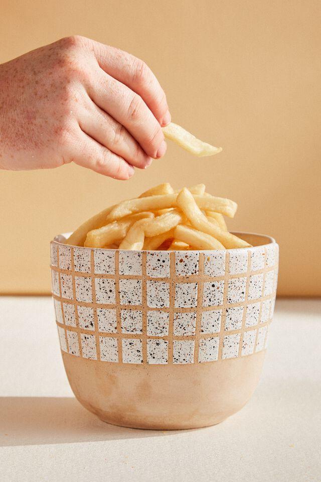 Feed Me Bowl, WHITE GRID