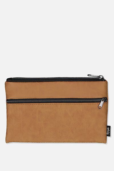 Archer Pencil Case, MID TAN