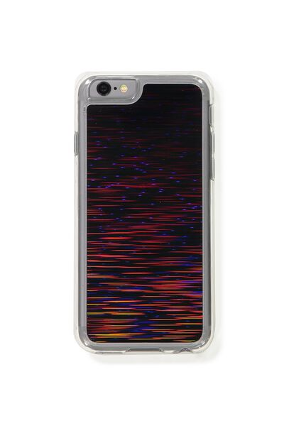 Textured Phone Cover 6, BLACK SHOOTING STARS