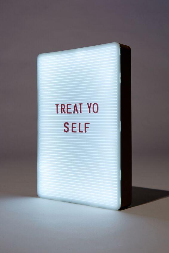 Peg Board Light Box, KHAKI & DUSTY ROSE