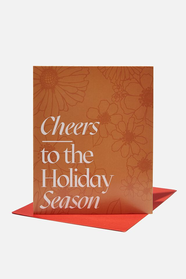 Christmas Card 2021, CHEERS TO THE HOLIDAY SEASON DAISY