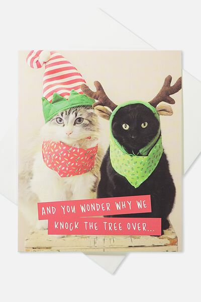 2018 Christmas Card, GRUMPY CATS