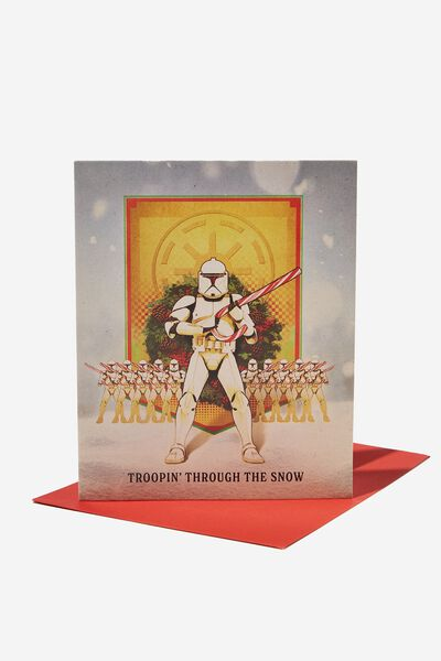 Christmas Card 2021, LCN LUC STAR WARS TROOPING THROUGH THE SNOW