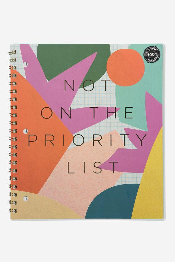 A4 Campus Notebook Recycled, PRIORITY LIST