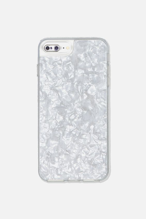 Snap On Protective Phone Case 6, 7, 8 Plus, WHITE PEARL