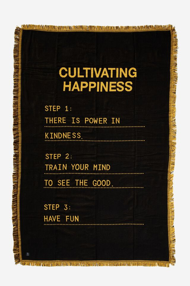 Woven Throw, CULTIVATING HAPPINESS