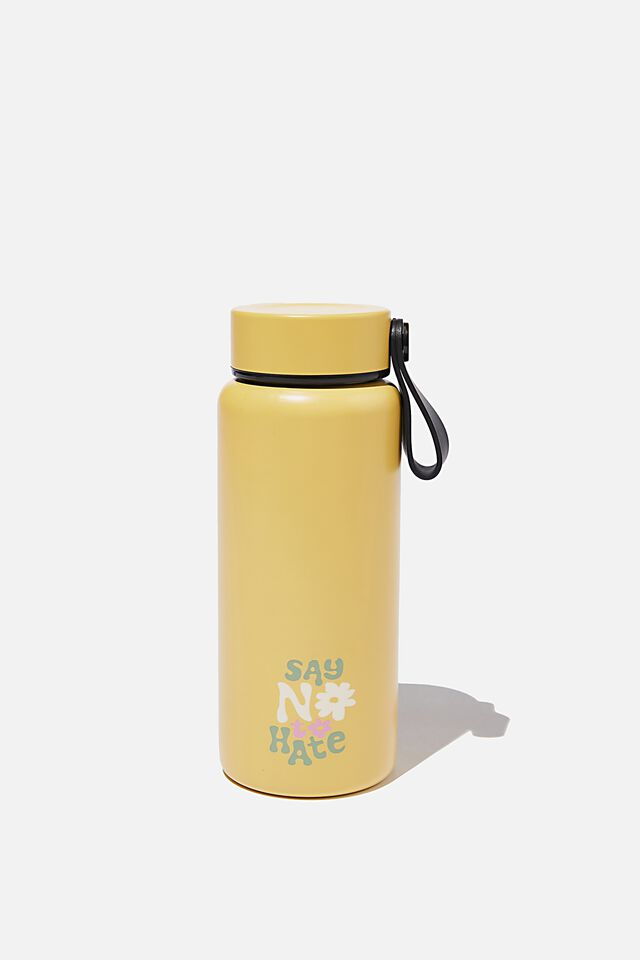 On The Move Metal Drink Bottle 350Ml, SAY NO TO HATE