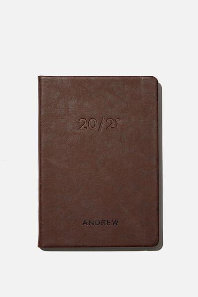 Personalisation 2020 21 A5 Weekly Buffalo Diary, RICH TAN