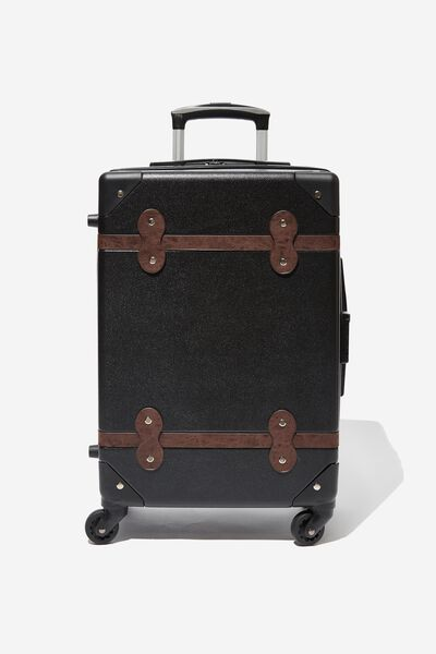 Travel Trunk Suitcase, BLACK