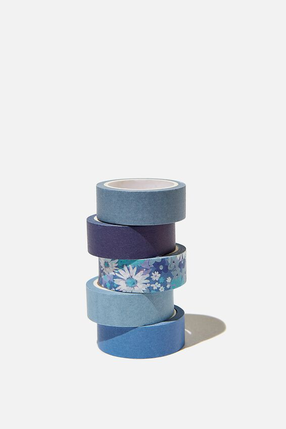 Washi Tape 5Pk, JONI FLORAL CORNFLOWER
