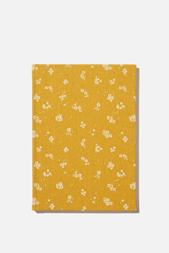 A5 Oxford Notebook, DOTTIE FLORAL MUSTARD
