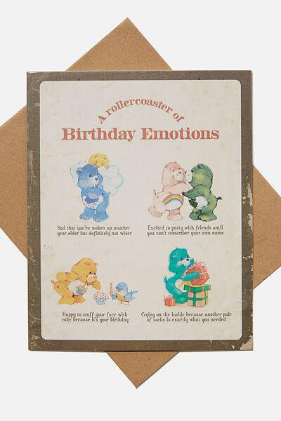Nice Birthday Card, LCN CLC CARE BEARS BIRTHDAY EMOTIONS