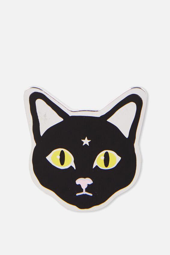 Enamel Badges, BLACK MAGIC CAT