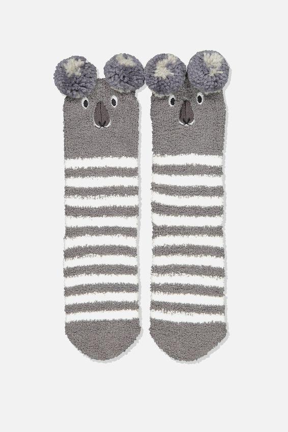 Long Slipper Socks, KOALA