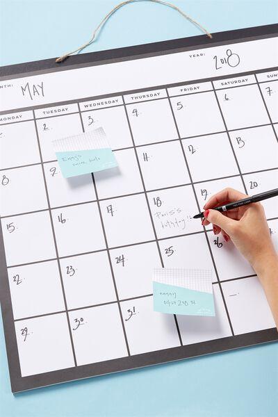 Undated A1 Square Hanging Calendar, BLACK