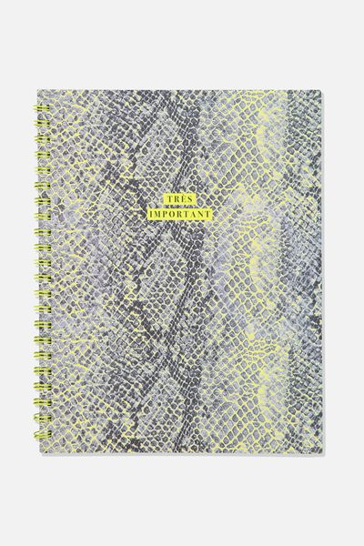 A4 Campus Notebook, SNAKESKIN TRES IMPORTANT