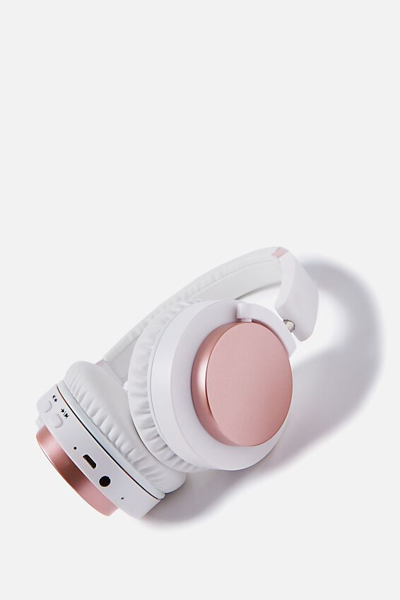 Wireless Signal Headphone, WHITE & ROSE GOLD