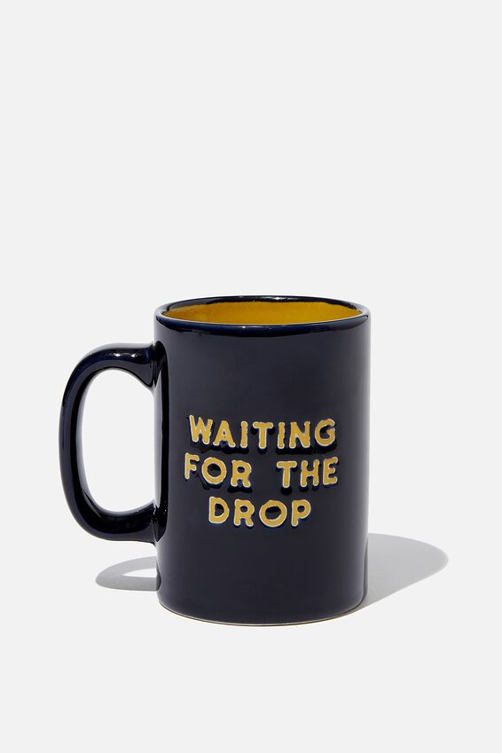 Debossed Mug, WAITING FOR THE DROP
