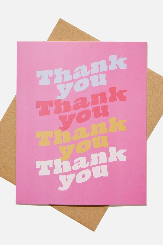Thank You Card, THANKYOU MAGENTA REPEAT