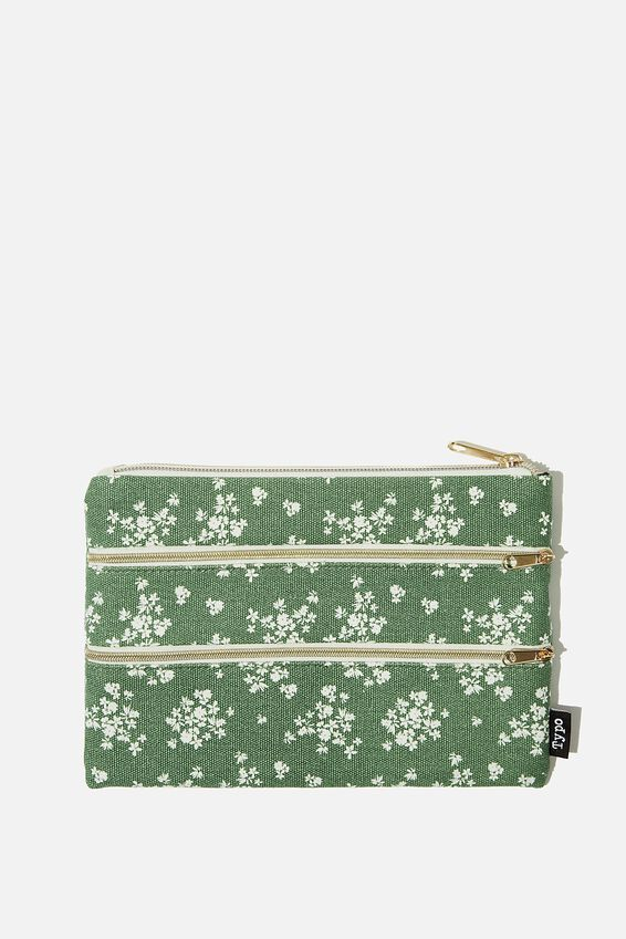 Double Archer Pencil Case, BASIL DITSY