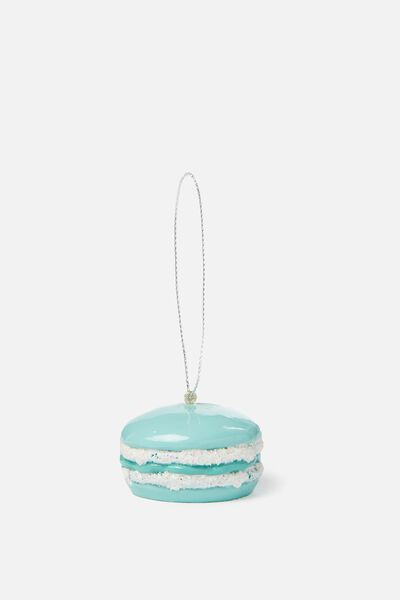 Christmas Ornament, AQUA BLUE MACAROON