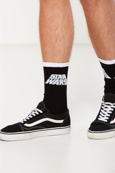 Mens Novelty Socks, LCN STAR WARS LOGO