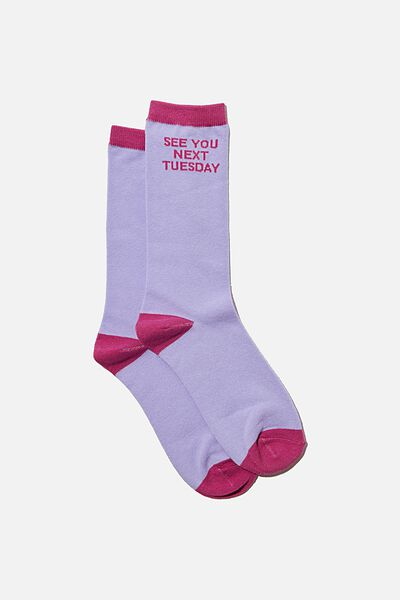 Socks, PINK SEE YOU NEXT TUESDAY!