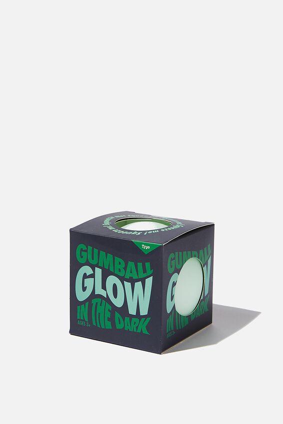 Gum Ball Squishy, GLOW IN THE DARK- BLUE