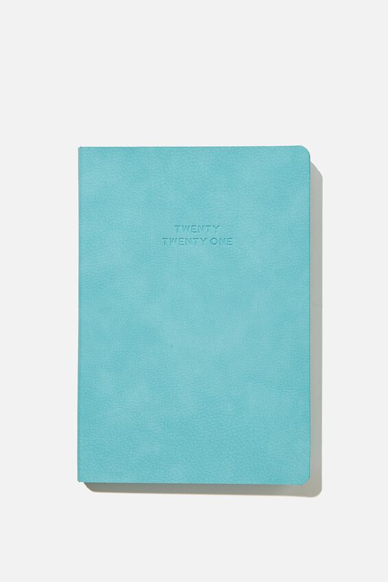 2021 Soft A5 Daily Buffalo Diary, DUSTY TURQUOISE