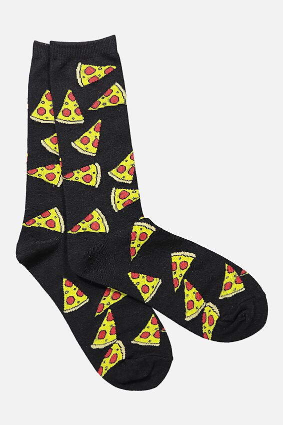 Mens Novelty Socks, PEPPERONI PIZZA