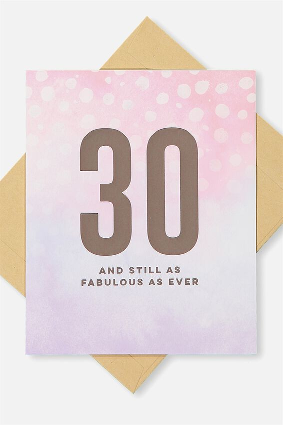 Age Card, 30 AND FABULOUS