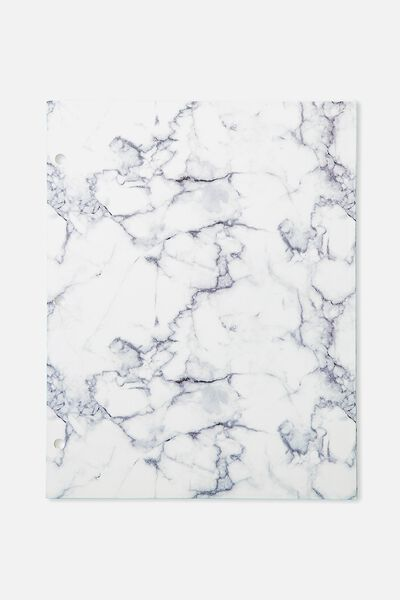 Assignment Folder, WHITE MARBLE